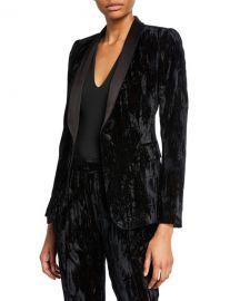 Alice   Olivia Macey Crushed Velvet Blazer at Neiman Marcus