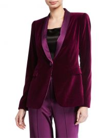 Alice   Olivia Macey Fitted Strong-Shoulder Blazer at Neiman Marcus