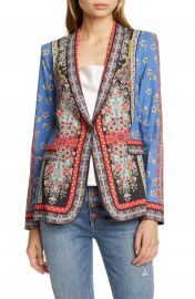 Alice   Olivia Macey Mix Print Blazer   Nordstrom at Nordstrom