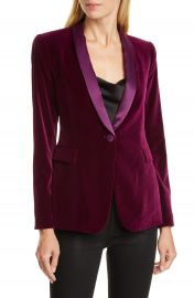 Alice   Olivia Macey Velvet Shawl Collar Jacket   Nordstrom at Nordstrom