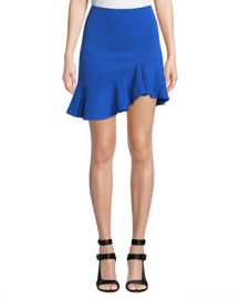 Alice   Olivia Marcella Asymmetrical Ruffle Skirt at Neiman Marcus