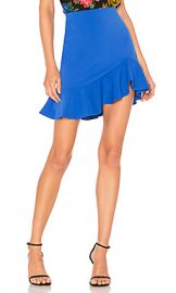 Alice   Olivia Marcella Ruffle Skirt in Cobalt from Revolve com at Revolve