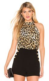 Alice   Olivia Maris Halter Top in Spotted Leopard Multi from Revolve com at Revolve