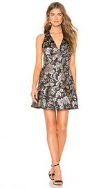 Alice   Olivia Marleen Fit And Flare Dress in Black  amp  Silver from Revolve com at Revolve