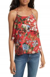 Alice   Olivia Marybeth Layer Ruffle Halter Top at Nordstrom