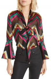 Alice   Olivia Meredith Bow Blouse   Nordstrom at Nordstrom