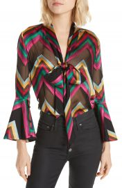 Alice   Olivia Meredith Bow Blouse at Nordstrom