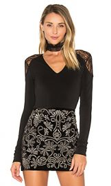 Alice   Olivia Nancey Lace Bodysuit in Black from Revolve com at Revolve