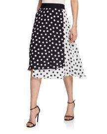 Alice   Olivia Nanette Mock Wrap Midi Skirt at Neiman Marcus
