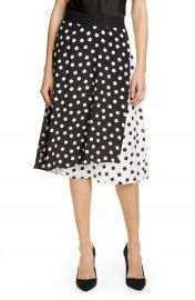 Alice   Olivia Nanette Pattern Mix Faux Wrap Silk Skirt   Nordstrom at Nordstrom