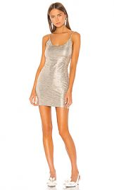 Alice   Olivia Nelle Fitted Mini Dress in Champagne from Revolve com at Revolve
