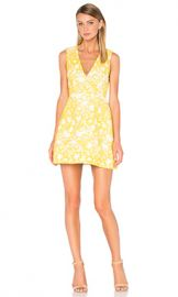 Alice   Olivia Pacey Embroidered Dress in Yellow  amp  White from Revolve com at Revolve