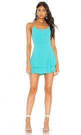 Alice   Olivia Palmira Ruffle Tank Dress in Marine Blue from Revolve com at Revolve
