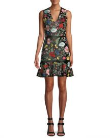 Alice   Olivia Peyton Embellished Square Neck Dress at Neiman Marcus