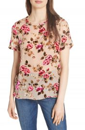 Alice   Olivia Piera Floral Burnout Tee at Nordstrom