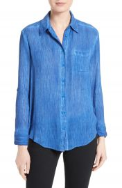 Alice   Olivia Piper Crinkled Shirt at Nordstrom
