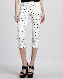 Alice   Olivia Polka-Dot Capri Pants at Neiman Marcus