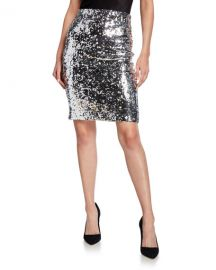 Alice   Olivia Ramos Sequin Fitted Skirt at Neiman Marcus