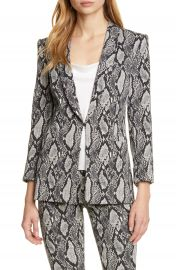 Alice   Olivia Richie Snake Print Cotton Blend Jacket   Nordstrom at Nordstrom
