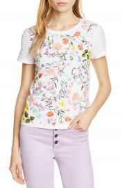 Alice   Olivia Rylyn Embroidered  amp  Appliqu  d Cotton Tee   Nordstrom at Nordstrom