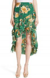 Alice   Olivia Sasha Ruffled Asymmetrical Floral Skirt at Nordstrom