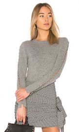 Alice   Olivia Sparrow Crop Sweater in Grey from Revolve com at Revolve