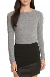 Alice   Olivia Sparrow Grommet Sleeve Sweater at Nordstrom