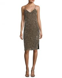 Alice   Olivia Stila Embellished Sequin Sleeveless Fitted Cocktail Dress at Neiman Marcus