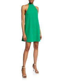 Alice   Olivia Susanna Halter Swing Dress at Neiman Marcus
