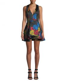 Alice   Olivia Tanner Floral-Print Asymmetrical Dress at Neiman Marcus