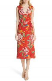 Alice   Olivia Tasia Sleeveless Silk Wrap Dress at Nordstrom