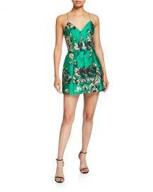 Alice   Olivia Tayla Structured Lantern Mini Dress at Neiman Marcus