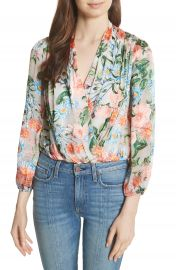 Alice   Olivia Trista Blouson Top at Nordstrom