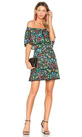 Alice   Olivia Tylie Dress in Chelsea Wildflower  amp  Black from Revolve com at Revolve