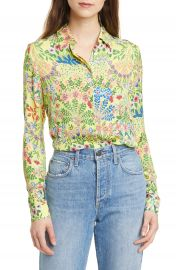 Alice   Olivia Willa Floral Print Blouse   Nordstrom at Nordstrom