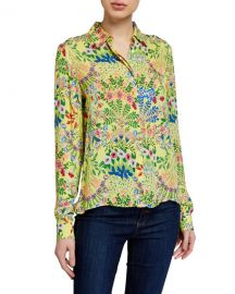 Alice   Olivia Willa Floral Print Shirt at Neiman Marcus