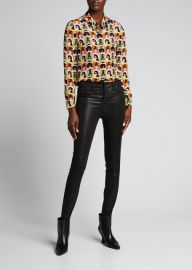 Alice   Olivia Willa Printed Silk Top at Bergdorf Goodman