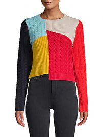 Alice   Olivia by Stacey Bendet - Colorblock Wool-Blend Sweater at Saks Off 5th