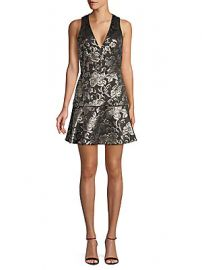 Alice   Olivia by Stacey Bendet - Floral Jacquard Mini Dress at Saks Off 5th