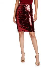 Alice   OliviaRamos Sequin Fitted Skirt at Neiman Marcus