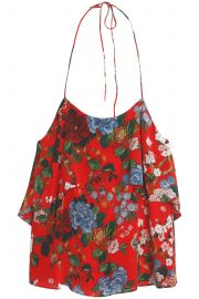Alice + Olivia Floral Ruffled Top at The Outnet
