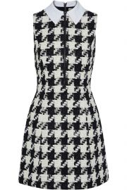 Alice + Olivia Houndstooth Tweed Dress at The Outnet