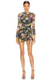 Alice McCall Cosmic Dancer Mini Dress in Black Floral   FWRD at Forward