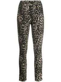 Alice Olivia Connley Shimmer Leopard Trousers - Farfetch at Farfetch
