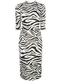 Alice Olivia Delora Zebra Print Dress - Farfetch at Farfetch