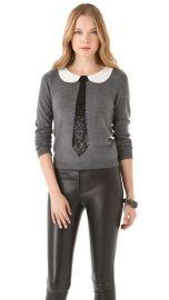 Alice Olivia Delray Sequin Tie Sweater at Shopbop
