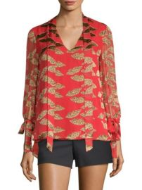 Alice Olivia Donald Sheila Blouse at Saks Off 5th