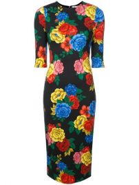 Alice Olivia Floral Print Fitted Dress - Farfetch at Farfetch