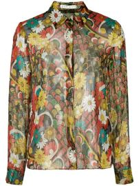 Alice Olivia Floral Print Shirt - Farfetch at Farfetch