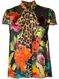 Alice Olivia Jeannie Printed bow-tie Shirt - Farfetch at Farfetch